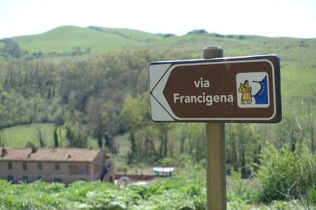 Via francigena sign