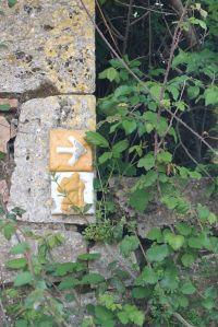 Via Francigena ceramic sign