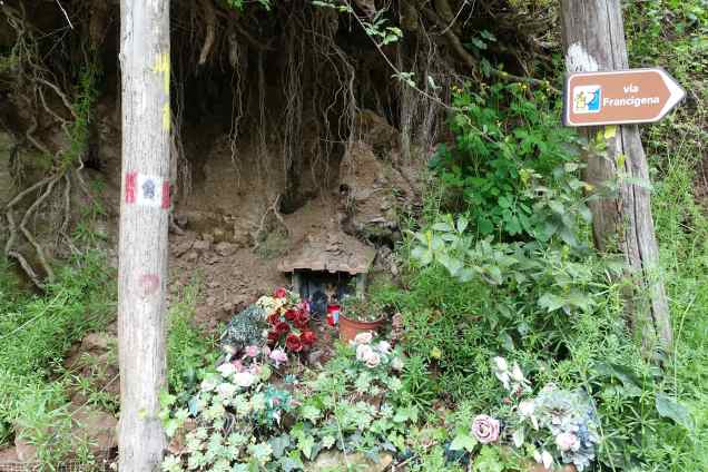 Via Francigena grotto