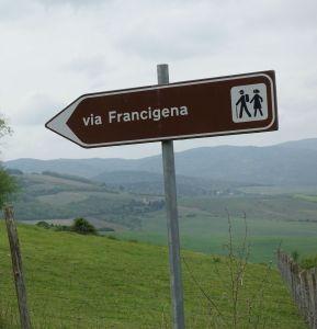 Via Francigena standard sign