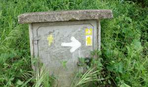 Via Francigena street furniture sign