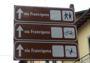 Via Francigena three signs