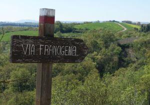 Via Francigena written sign