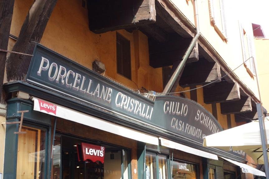 bologna shop signs Italy