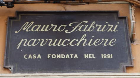 shop sign Bologna Italy