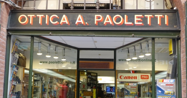paoletti bologna italy shop sign