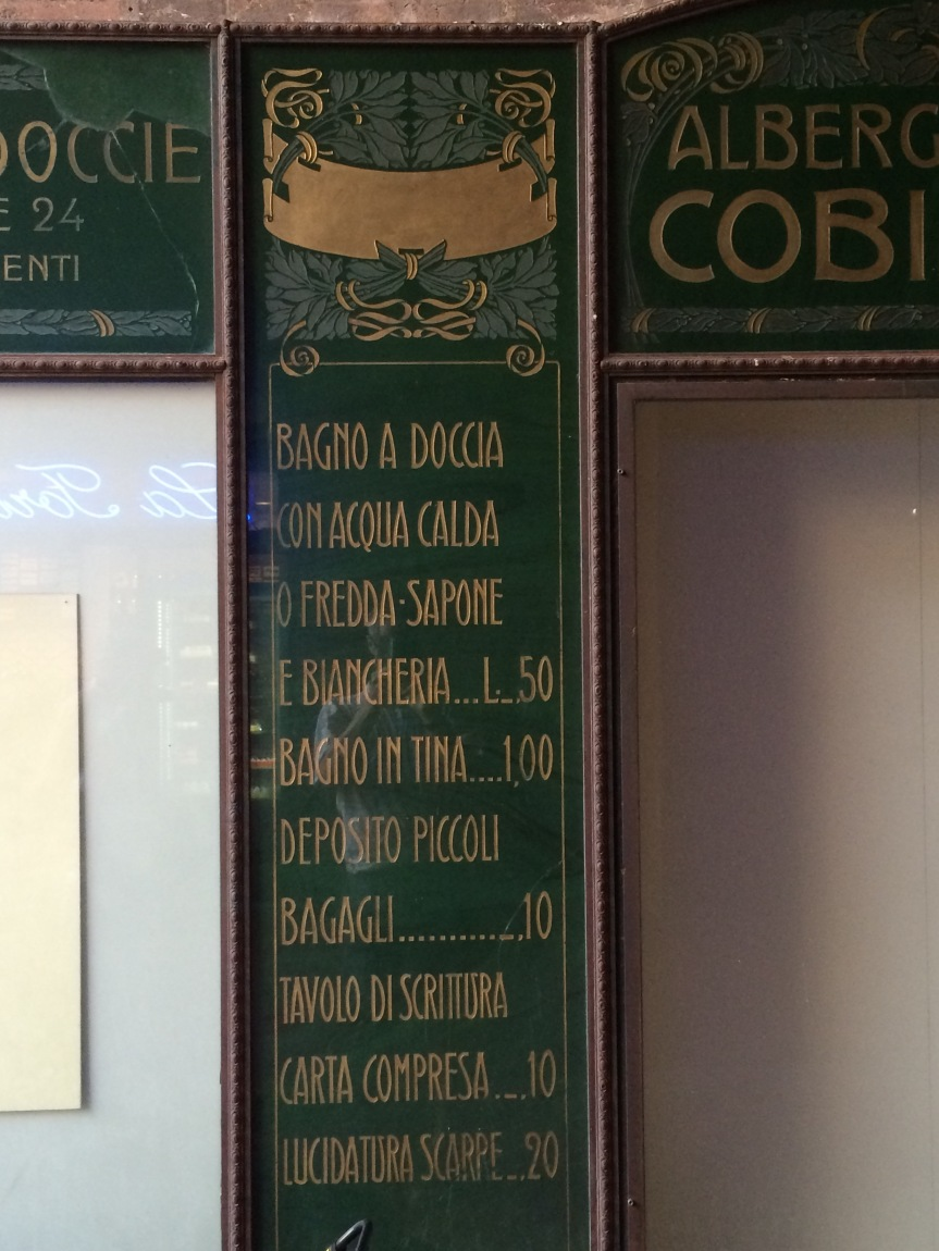 Albergo Diurnale Cobianchi Bologna shop sign