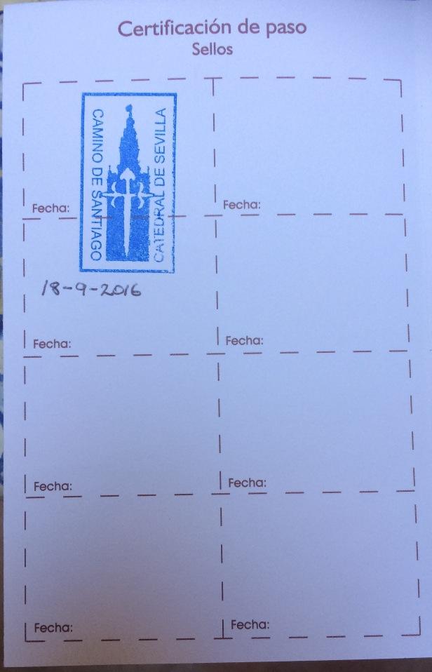 seville via de la plata. stamp