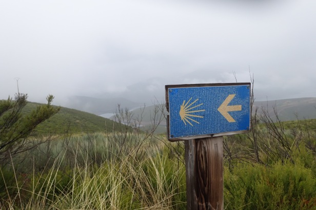 Camino Sanabrés sign