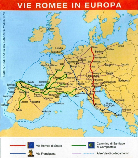 pilgrim routes of Europe
