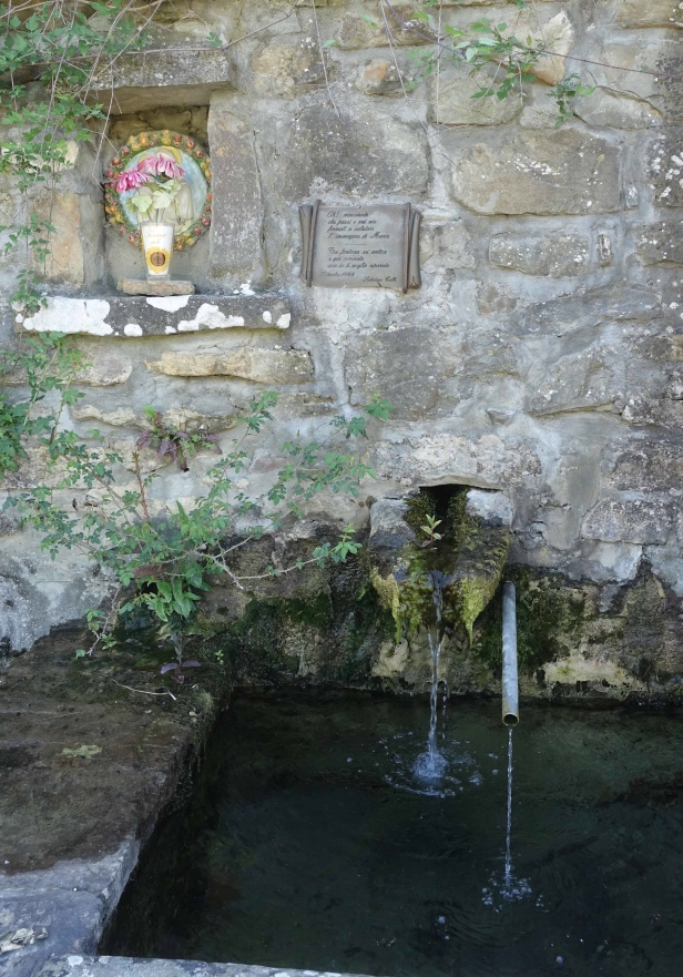 Via Romea Germanica fountain Tuscany